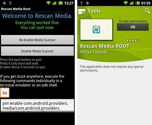Aplikasi Rescan Media ROOT