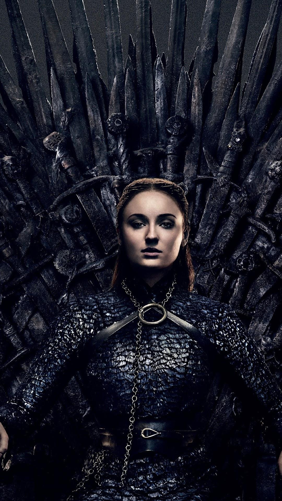 Sansa Stark Game Of Thrones Iron Throne Season 8 4k