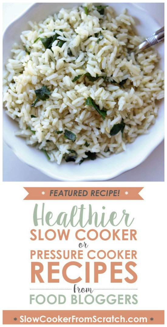 Instant Pot Cafe Rio Cilantro Lime Rice from 365 Days of Slow Cooking featured on SlowCookerFromScratch.com