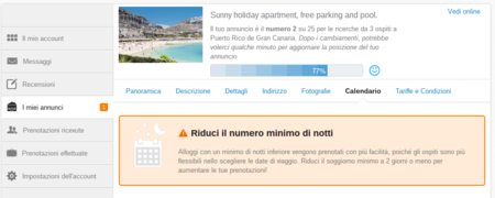 intranet dei booking on-line