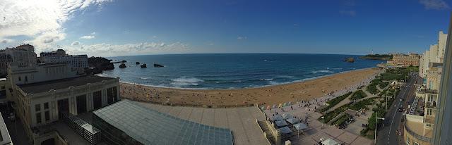 Panorama depuis l'Hôtel Windsor, vue sur la Grande Plage de Biarritz