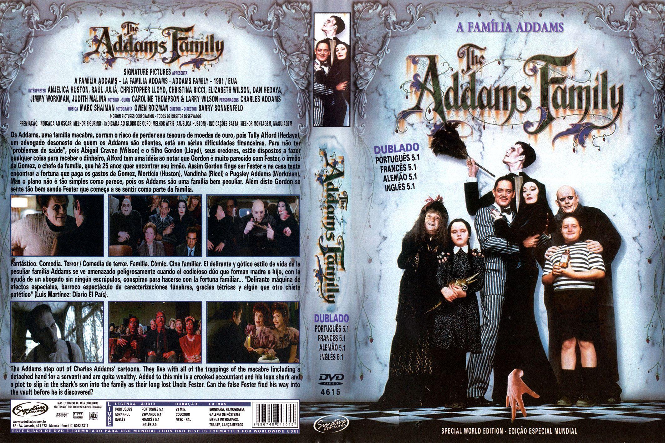 Capa DVD A Família Addams (1991) - Gamecover | Capas ...