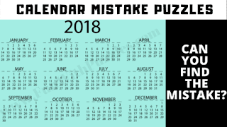 Calendar Mistake Puzzles