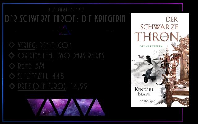 [Rezension] Der Schwarze Thron: Die Kriegerin - Kendare Blake