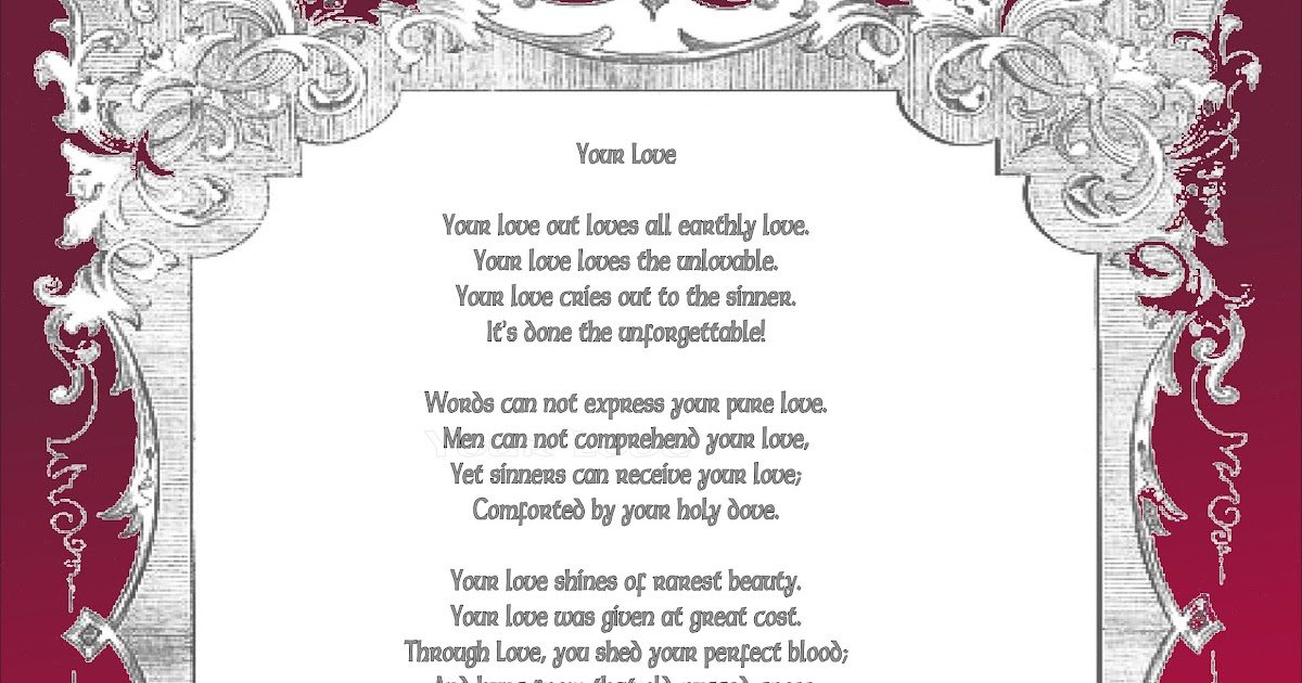 Christian Images In My Treasure Box Your Love Poem Poster