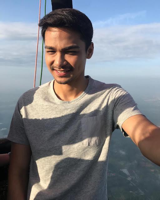 Syafiq kyle selfie di tempat yang tinggi