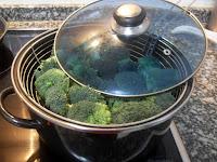 Brécol cocido al vapor