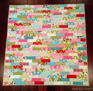 bricks baby quilt
