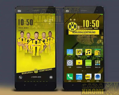 Kumpulan Tema MIUI Football Themes Mtz For Xiaomi Dortmun