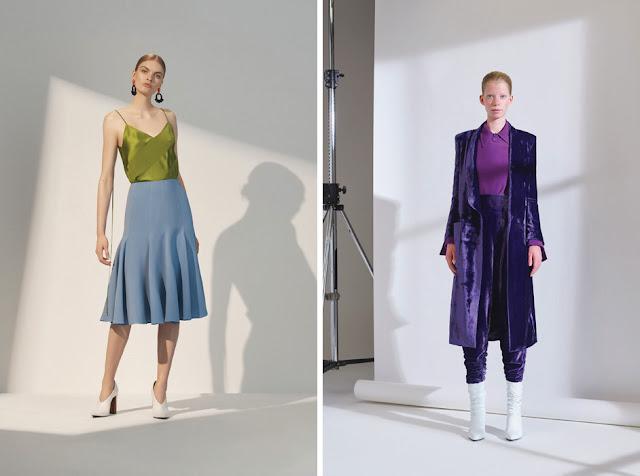 Сочетания голубого и зеленого, синего и фиолетового в одежде