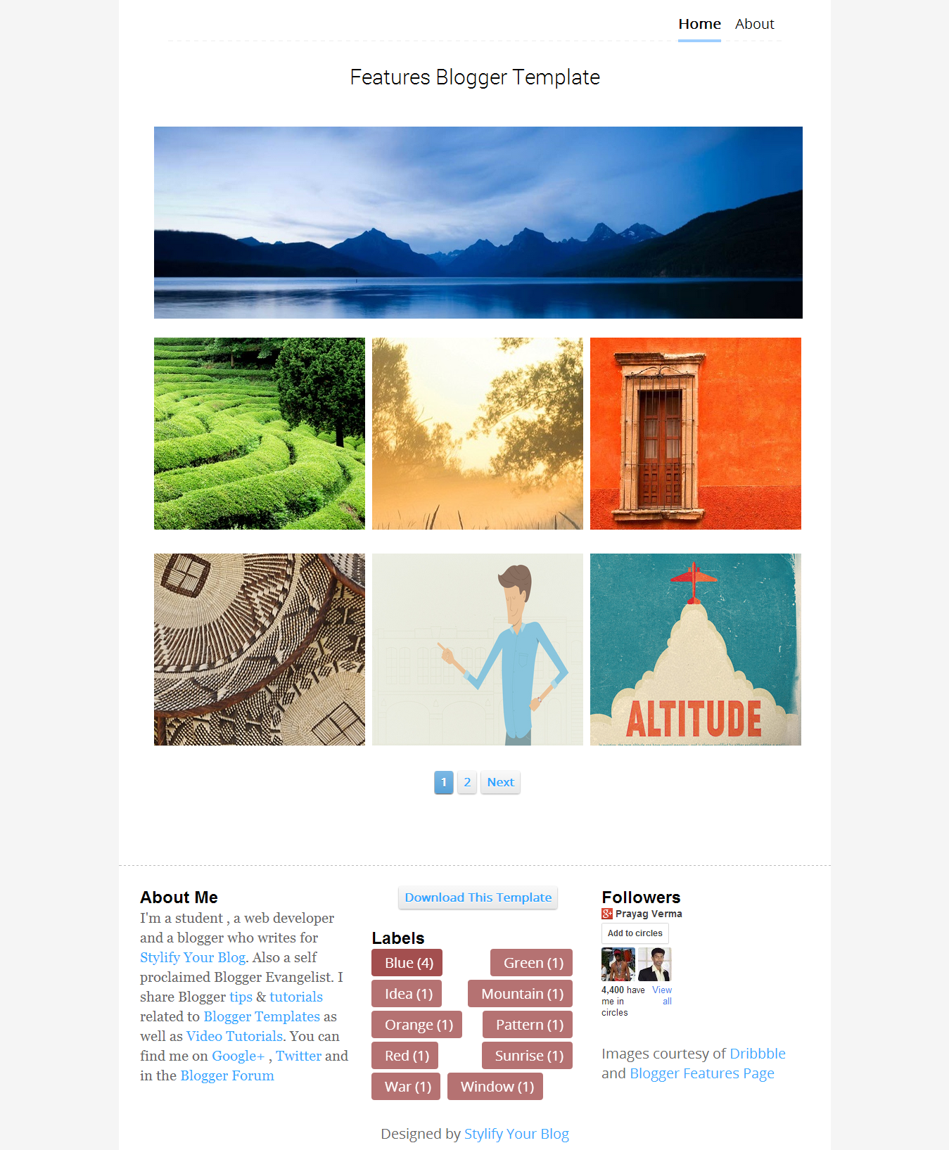 Features Responsive Portfolio Blogger Template Stylify Your Blog