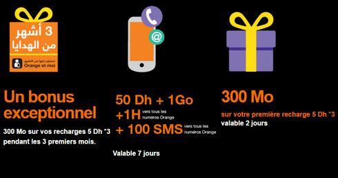 ... chaque nouveau client aura droit à un cadeau de bienvenue d une heure  de communications vers les numéros Orange uniquement, 1 Go d internet, ... fe2dabb18c2