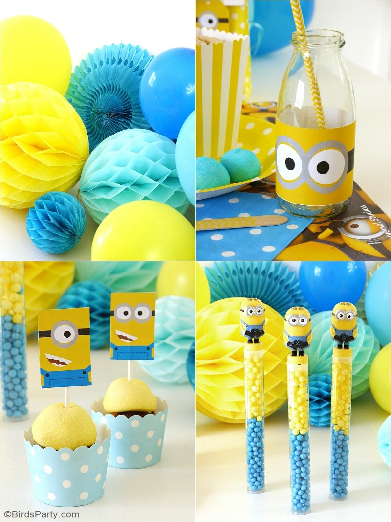 Minion Inspired Party Ideas FREE Printables