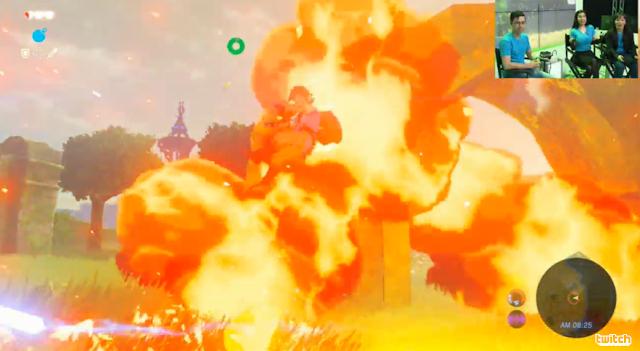 The Legend of Zelda: Breath of the Wild Guardian laser explosion shrine