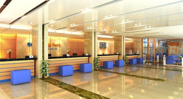 Thiết kế nội thất văn phòng giao dịch tập trung nêu bật hình ảnh doanh nghiệp
