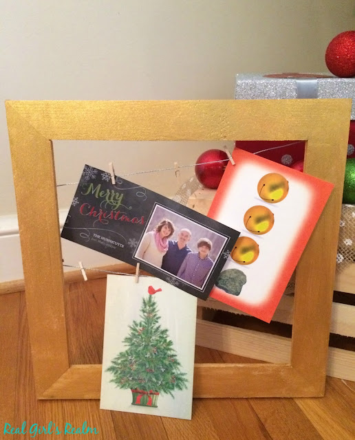Make a holder for those Christmas cards with just a few supplies!