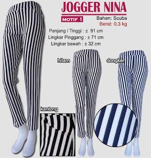 tampil trendy dengan celana jogger scuba panjang-nina 1