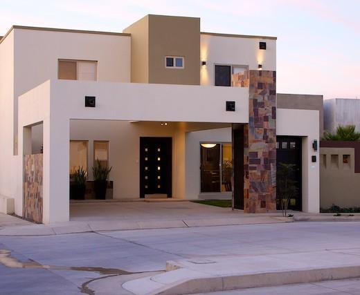 Fachada de casas minimalistas y modernas licencias de for Fachadas de casas modernas con piedra de una planta