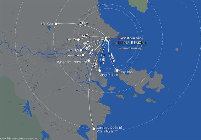 vị trí tiềm năng La Luna Resort Nha Trang