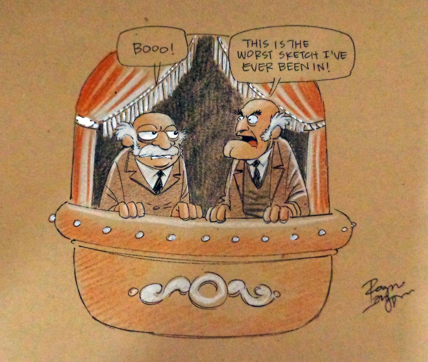 1000 Ideas About Statler And Waldorf On Pinterest: The Hotel Fred: Glasgow Comic Con 2014 Sketch: Statler