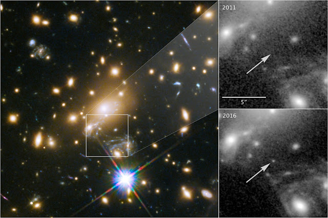 Hubble peers through cosmic lens to capture most distant star ever seen