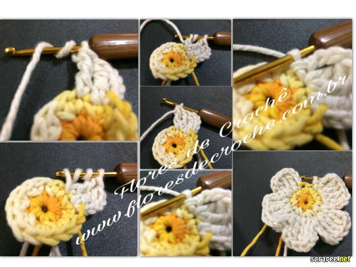 465a7b9dc3 Flores de crochê Barroco - como fazer e passo a passo ~ Flores de Crochê