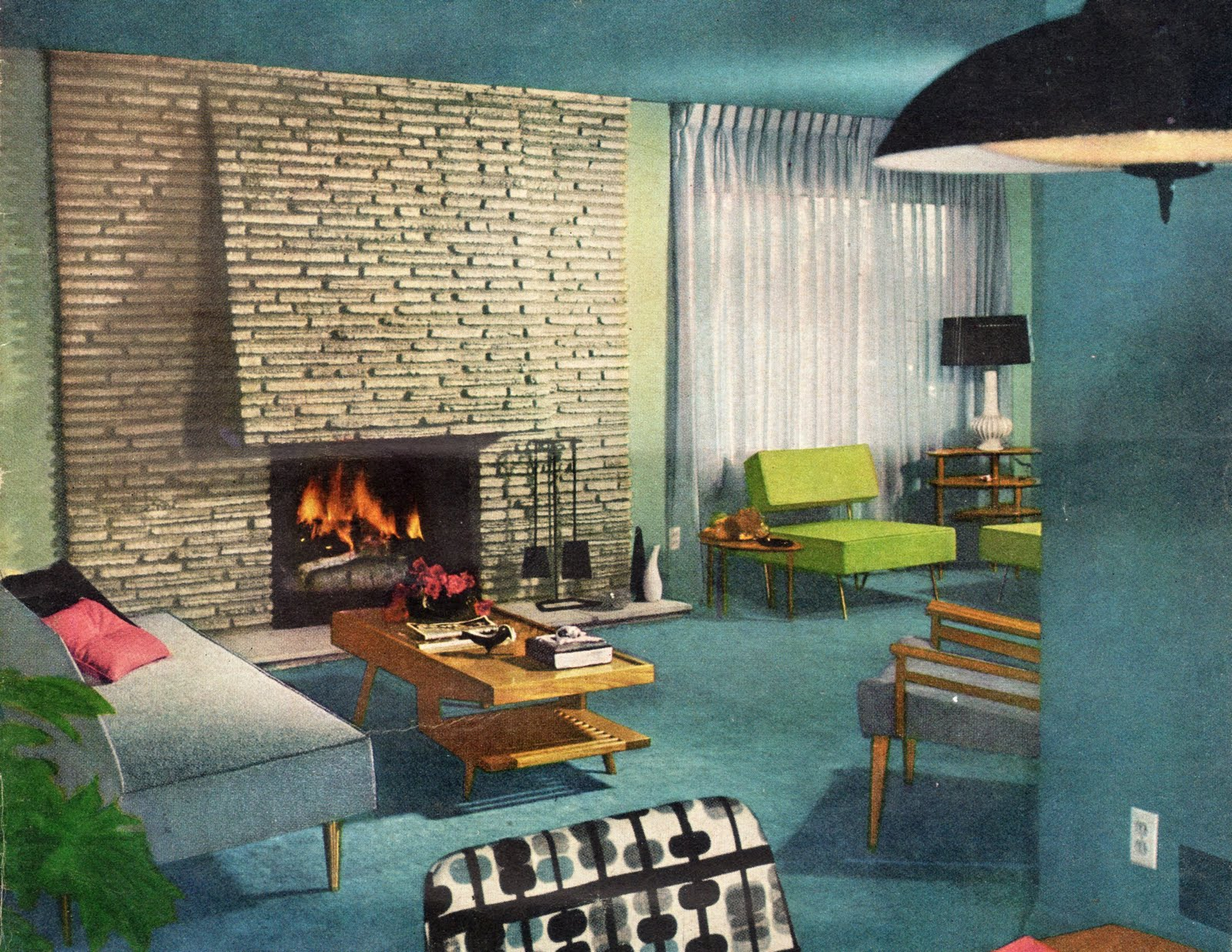Mid Century Modern Living Room Design Mad For Mid Century August 2011