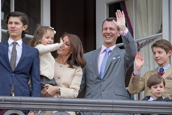 Queen Margrethe, Prince Henrik, Crown Prince Frederik, Crown Princess Mary, Prince Christian, Princess Isabella, Prince Vincent, Princess Josephine, Prince Joachim, Princess Marie, Prince Nikolai, Prince Felix, Prince Henrik and Princess Athena