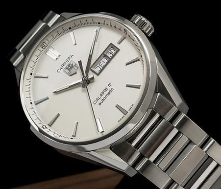 ecbd38619b Replica TAG Heuer Carrera Calibre 5 Day-Date Automatic Watch WAR201B.