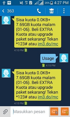 Cara Cek Kuota Indosat lewat SMS