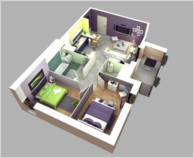 Mẫu căn hộ 74,1m2 tại Chung cư 789 Xuân Đỉnh