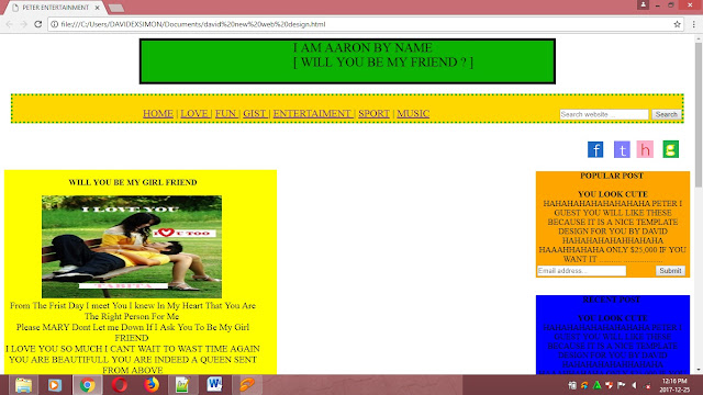 how to create web page in html with coding