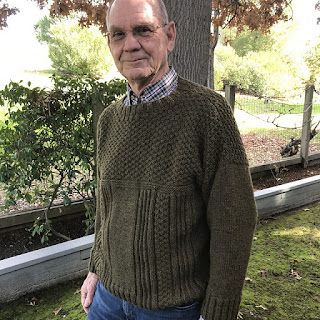 fe89c4d2cf Barb s husband Mark (and Tracie s Dad!) modeling his new sweater!