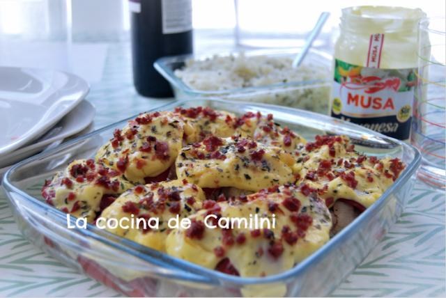 Coliflores con mahonesa al horno (La cocina de Camilni)