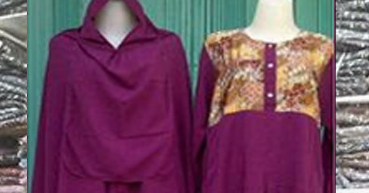 Gamis Set Batik Atas - Galeri Syahidah Collection