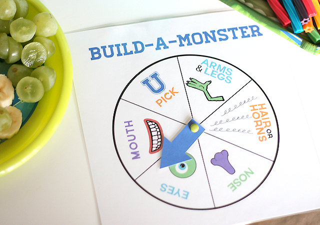picture regarding Build a Monster Printable titled Monsters Higher education Social gathering and Establish-A-Monster Snack - My