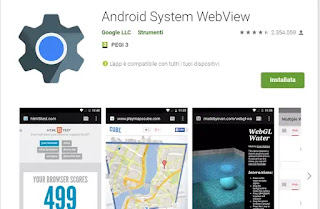 cosa fa android system webview
