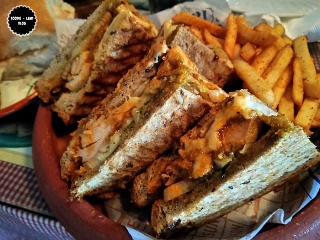 Bhuna Chicken Sandwich @ SodaBottleOpenerWala | Lavelle Road | Bangalore
