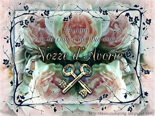 Auguri Matrimonio Nozze Zaffiro : Nozze d avorio anniversario con belle frasi su cartoncino