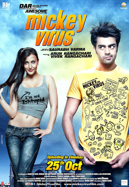 Poster Of Mickey Virus 2013 Hindi 720p DVDRip Full Movie Download