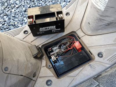 アドレスV125Gのバッテリー入れ替え完了