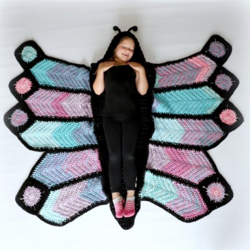 How To Crochet A Butterfly Blanket
