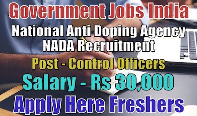 National Anti Doping Agency NADA Recruitment 2018
