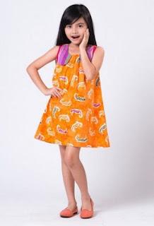 Model baju batik anak perempuan kekininian