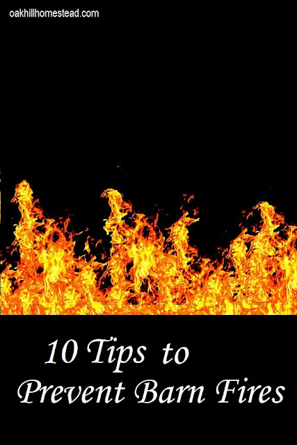 How to make a barn fire safety policy and prevent a barn fire.