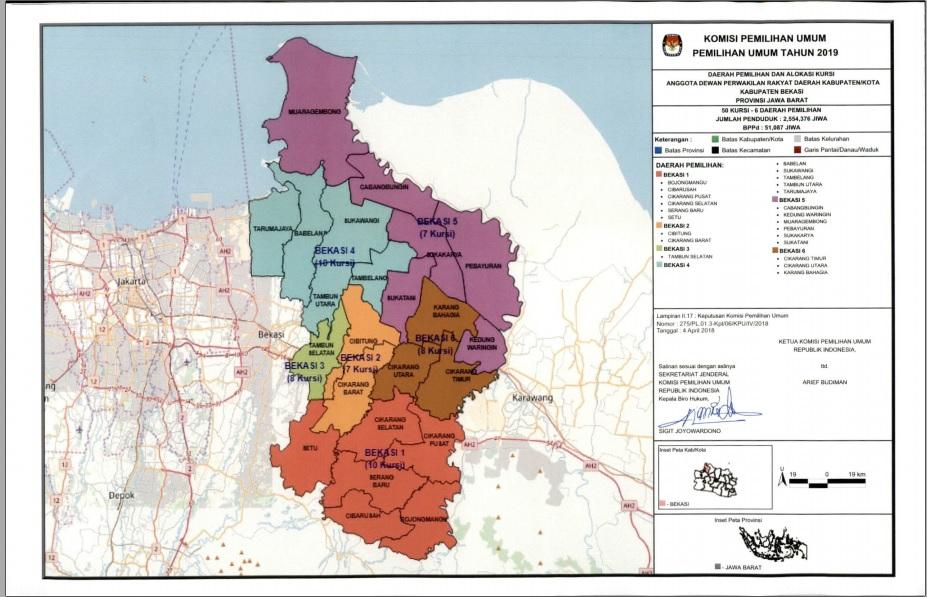 KPU KABUPATEN BEKASI: KPU Tetapkan 6 Dapil Anggota DPRD ...