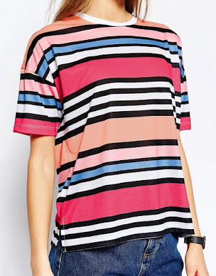 Rainbow stripe T-shirt, $25.88 from ASOS