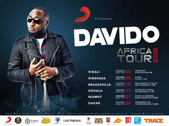 Davido Partners With Temple Management For 30BG Francophone Africa Tour