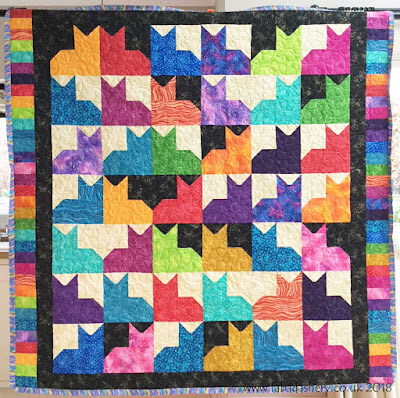 'Pins and Paws' Quilt Pattern made by Penny,  quilted by Frances Meredith, Fabadashery Long Arm Quilting