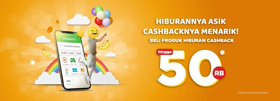 Tokopedia - Promo Cashback s.d 50% PembelianProduk Hiburan (s.d 14 Okt 2018)